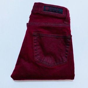 Rock & Republic •  Berlin Red Coated Skinny Denim